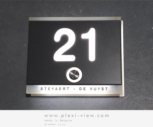 Plexi-View: Huisnummers, naamplaten en deurbellen, met verlichting ...