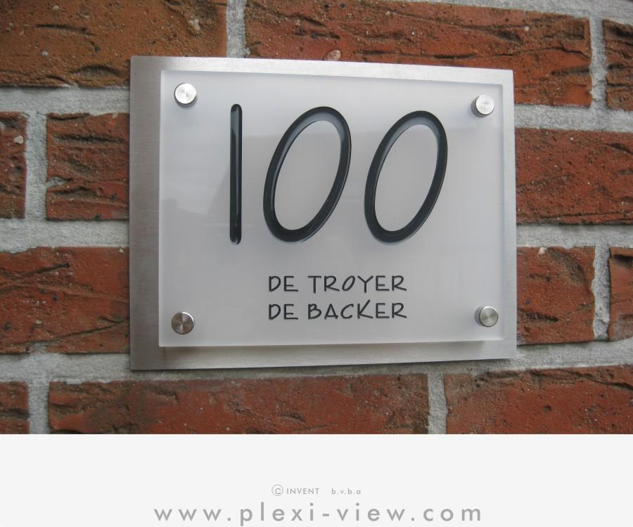 Spiksplinternieuw Huisnummers, naamplaten en deurbellen, met verlichting   Plexi-View CQ-96